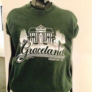 """Vintage 90s """"Graceland"""" Souvenir T-shirt Medium"""